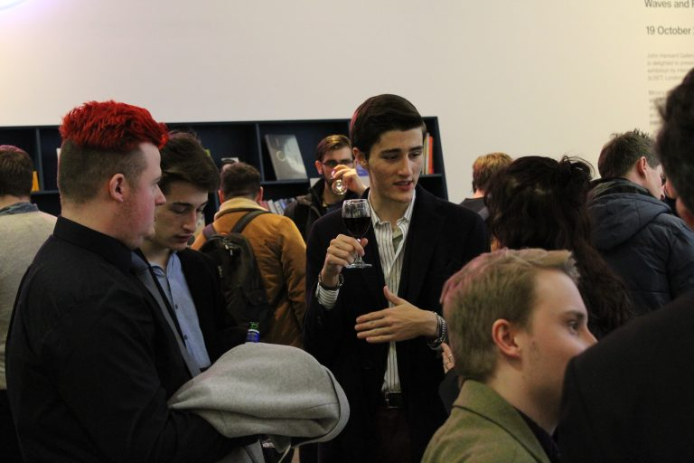 Filmmakers networking at the BFI Network Talent Mixer