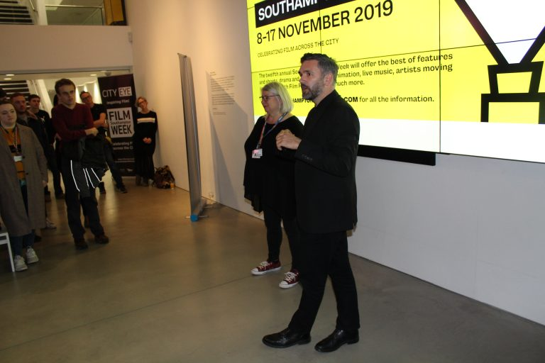 City Eye Director Susan Beckett and board member Darren Kerr introduce the BFI Network Talent Mixer
